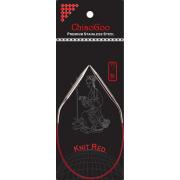 30cm ChiaoGoo Knit Red kruhové jehlice s krátkým lankem
