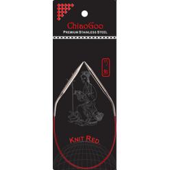 ChiaoGoo Knit Red Pevné kruhové jehlice 30cm