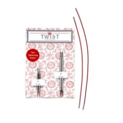 Výměnné kruhové jehlice ChiaoGoo TWIST short combo(2 páry + 2 lanka)