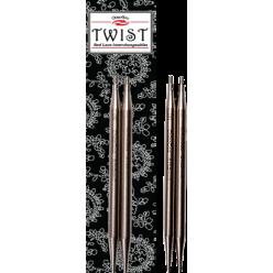 13cm Kovové Výměnné kruhové jehlice TWIST ChiaoGoo