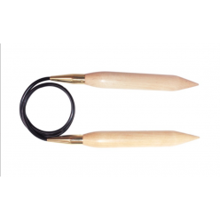 Knit Pro Jumbo Birch Pevné kruhové jehlice 80cm