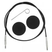 KnitPro výměnné lanko (černý)
