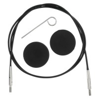 KnitPro Černé výměnné lanko