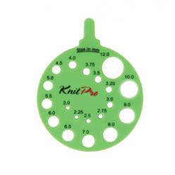 KnitPro Šablona na měření jehlic - Envy