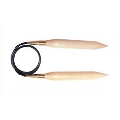 KnitPro Jumbo Birch Pevné kruhové jehlice 100cm
