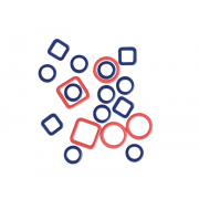 KnitPro kovové značkovače oček Linea (40 kusů)